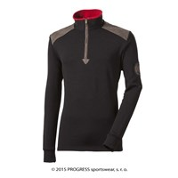 MAXIM mens zip neck pullover black