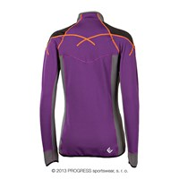 BRENTA ladies outdoor full zip jacket purple/grey/black