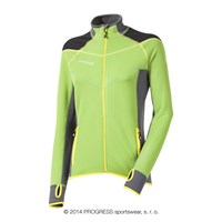 BRENTA ladies outdoor full zip jacket green/black