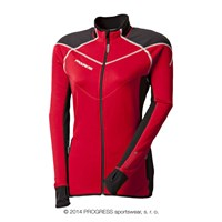 BRENTA ladies outdoor full zip jacket red/černá