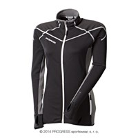 BRENTA ladies outdoor full zip jacket black/grey