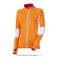 VENTA ladies running full zip jacket orange/white/grey