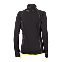 VENTA ladies running full zip jacket black/yellow sew.
