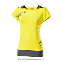TAIKO ladies training T-shirt yellow/grey