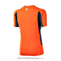 SPRINTER mens short sleeve Tee Dk.orange/grey/black