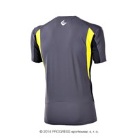 SPRINTER mens short sleeve Tee grey/black/yellow
