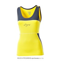 KALIMERA ladies tank top yellow/grey