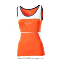 KALIMERA ladies tank top Dk.orange/white