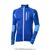 CLAVOS mens running full zip jacket Dk.blue/blue