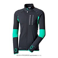 CLAVOS mens running full zip jacket black/green
