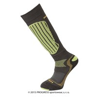 X-HIGH winter skiing long socks grey/green/yellow