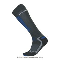 X-HIGH winter skiing long socks black/blue/white