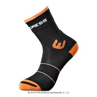 WALKING summer socks black/orange