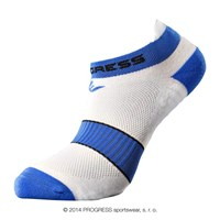 SNAKER footie socks white/blue