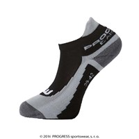 SNAKER BAMBOO footie socks black/grey