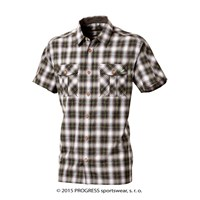 PULSE mens bamboo shirt black checks