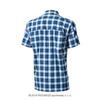 PULSE mens bamboo shirt blue checks