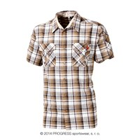 PULSE mens bamboo shirt brown checks