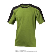 MENTOR mens bamboo T-shirt black/green melange