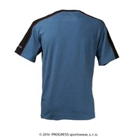 MENTOR mens bamboo T-shirt black/blue melange
