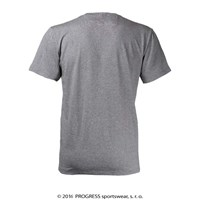 BOTTON mens bamboo V-neck T-shirt grey melange