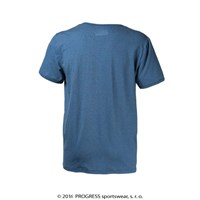 BOTTON mens bamboo V-neck T-shirt blue melange
