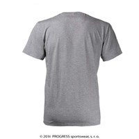 "BARBAR mens bamboo T-shirt grey melange - ""7 summits"""
