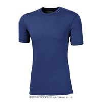 MS NKR mens baselayer short sleeve T-shirt blue