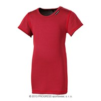 MS NKRD kids baselayer short sleeve T-shirt red