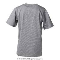 "BAMBINO KID kids bamboo T-shirt grey melange - ""bird"""