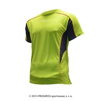 TESTER mens sports T-shirt yellow