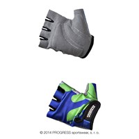 KIDS MITTS kids half finger cycling mitts blue/Lt.green