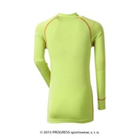 E NDRD kids bamboo long sleeve T-shirt Lt.green/orange sew.