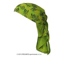 "SAT PRINT fully printed headscarf triangle ""GREEN CLAWS""design"