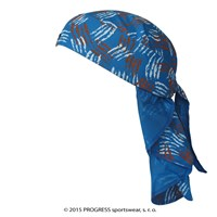 "SAT PRINT fully printed headscarf triangle ""BLUE C"