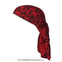 "SAT PRINT fully printed headscarf triangle ""RED BRICKS"" design"