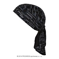 "SAT PRINT fully printed headscarf triangle ""STARTREK"" design"