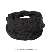 LINA ladies knitted shawl black