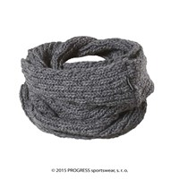 LINA ladies knitted shawl grey