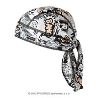 "CEZ PRINT fully printed headscarf tie-back ""COMIC"" design"