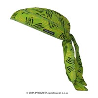 "CEZ PRINT fully printed headscarf tie-back ""GREEN CLAWS"" design"