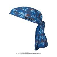 "CEZ PRINT fully printed headscarf tie-back ""BLUE CLAWS"" design"