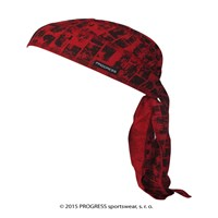 "CEZ PRINT fully printed headscarf tie-back ""RED BRICKS""design"