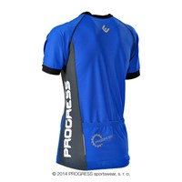 SPIDER mens short sleeve cycling jersey blue/grey