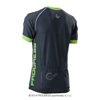 SPIDER mens short sleeve cycling jersey grey/Lt.green
