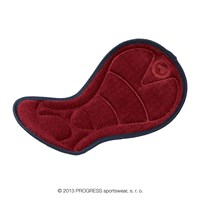 PAD ladies removable padding black/red