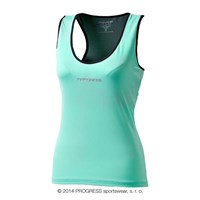 DINA ladies baselayer singlet Lt.green