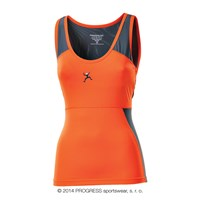 ARCO ladies singlet terracotta/grey