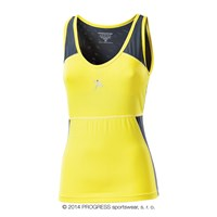 ARCO ladies singlet yellow/grey