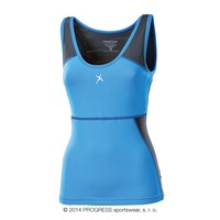 ARCO ladies singlet blue/grey